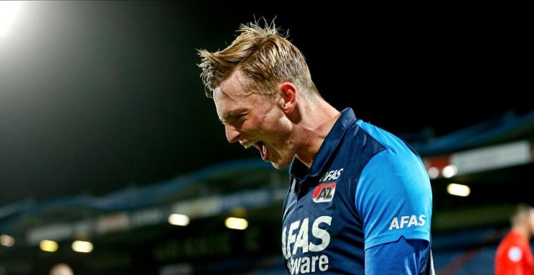 AZ komt snelle rode kaart Koopmeiners te boven en legt druk bij PSV