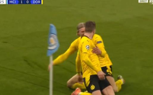 Schitterende subtiele assist Haaland: Reus maakt cruciale uitgoal voor Dortmund