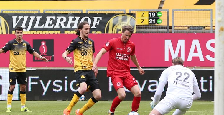 Geen winnaar in Kerkrade bij frustrerende wedstrijd van 23 minuten
