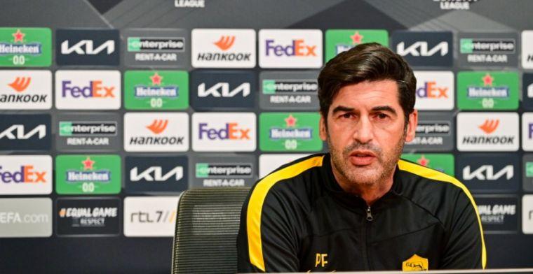 Roma-coach Fonseca schept duidelijkheid voor duel met Ajax: 'Zal moeilijk worden'
