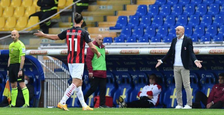 Pioli neemt het op voor Zlatan na rode kaart: 'Hij beledigde hem absoluut niet'