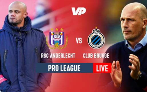 LIVE: Anderlecht gaat op en over Club Brugge