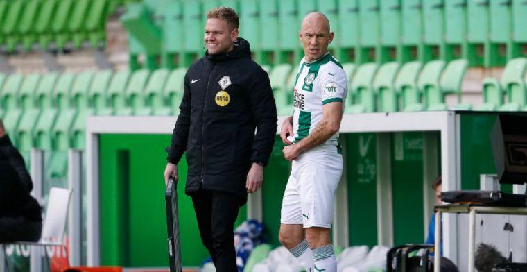 Robben 'kon gewoon niet stoppen' bij Groningen: 'Dat speelt heel erg mee'