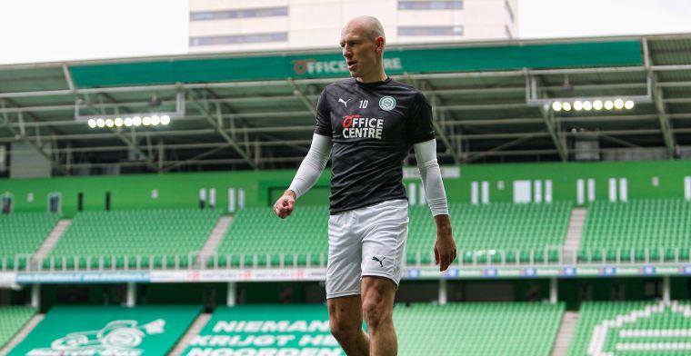 Robben gaat spelen bij FC Groningen: 'Raar als we hem niet gebruiken'