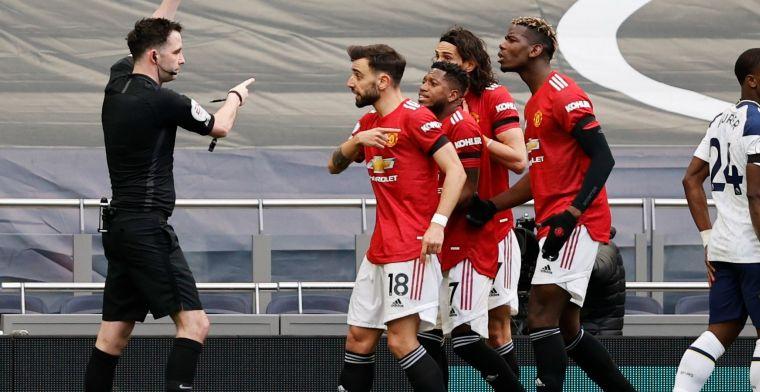 Man United neemt na dubieuze VAR-interventie revanche op Spurs en Mourinho
