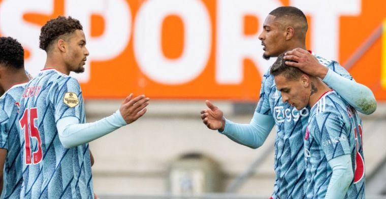 Pover Ajax wint moeizaam bij RKC, maar ziet Rensch met blessure uitvallen
