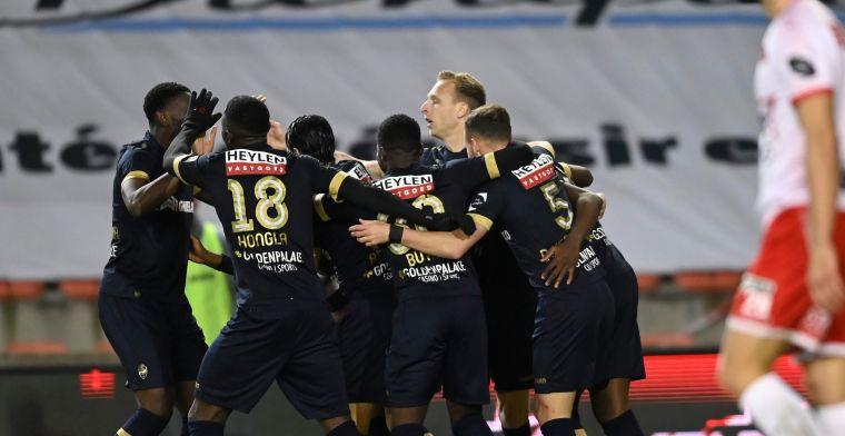 Helft zweten na rode kaart, maar Antwerp haalt Play-Off-1-ticket op in Moeskroen