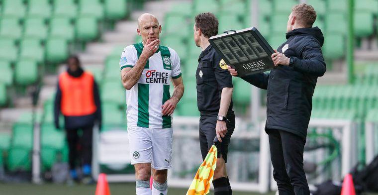 'Robben soms gefrustreerd, hij zit een flink aantal niveaus lager bij Groningen'