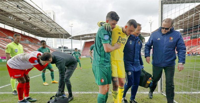 Bijlow toch onzeker voor cruciaal duel met Vitesse: 'Is blijkbaar wel pijnlijk'