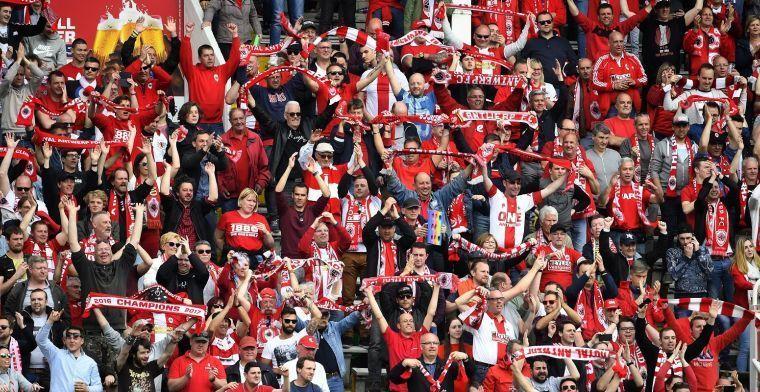 Antwerp-fans poseren met vlag van Beerschot: 'Kom ze maar halen'
