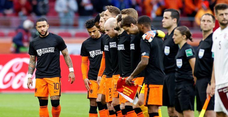 Statement van Oranje en Nederlandse profs: 'Druk op regering Qatar uitoefenen'