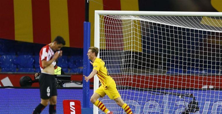 Koeman wint eerste prijs met Barcelona dankzij excellerende Frenkie de Jong