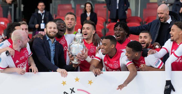 Transferbelofte na bekerwinst Ajax: 'Ik wil dolgraag blijven, ben nog niet klaar'