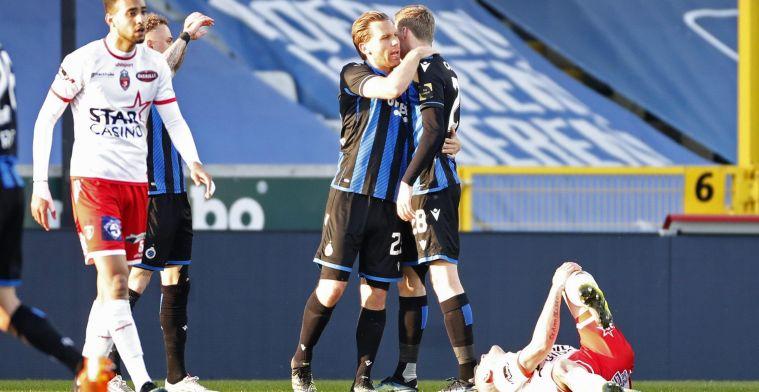 Moeskroen verliest van Club Brugge en degradeert