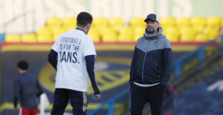 Klopp noemt statement Leeds-spelers 'grote grap': 'Dat maakt mij boos