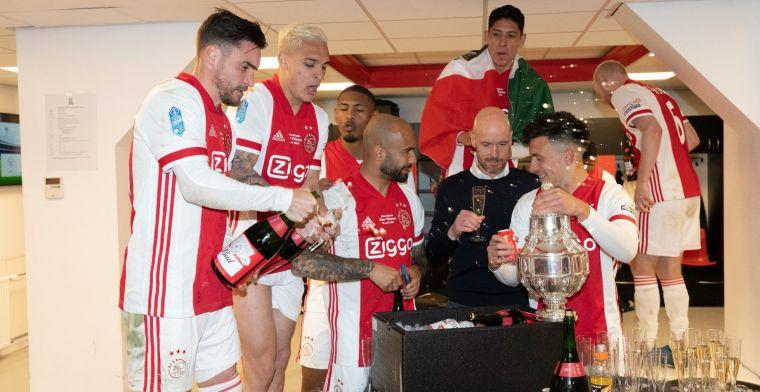 Ten Hag reageert fel bij Ajax TV: 'Pure beeldvorming, absoluut niet mee eens'