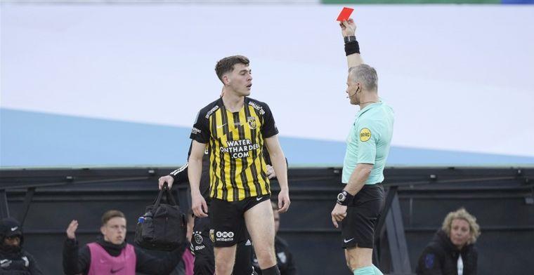 KNVB komt met forse schorsing: Rasmussen mist cruciale duels van Vitesse