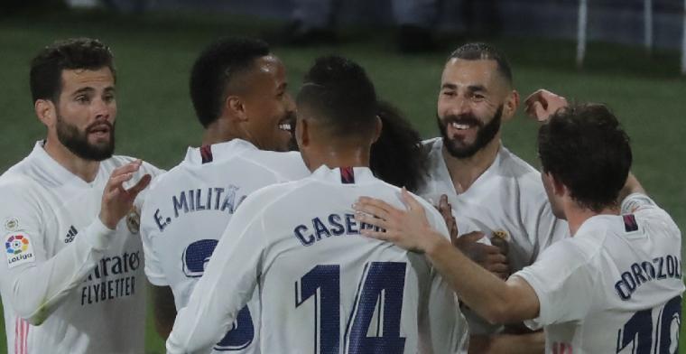 Real Madrid wint eenvoudig en is zeker één dag koploper van Spanje