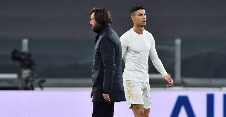Ronaldo duikt weer weg en moet het ontgelden: Pirlo overweegt in te grijpen