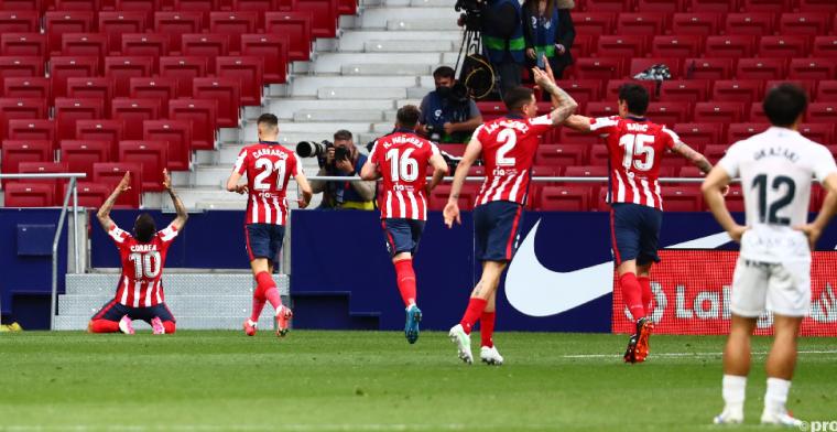 Atlético Madrid is weer koploper van Spanje, FC Barcelona staat acht punten achter