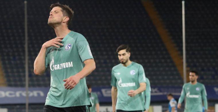 Chaos na degradatie Schalke, auto Uth 'op zijn kop gegooid': 'De angst in de ogen'
