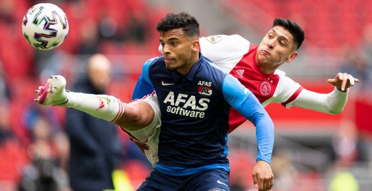 Perez vol lof over actie Álvarez tijdens Ajax - AZ: 'Wij denken: loopt wel los'