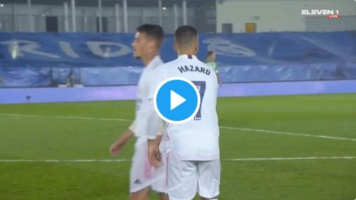 He's back! Bekijk hier alle acties van Hazard tegen Real Betis