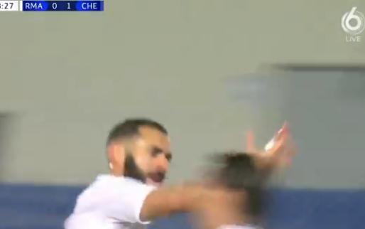 Benzema brengt tribuneklant Ramos in extase: grandioze goal in stromende regen