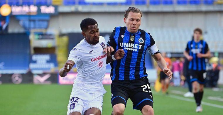 Club Brugge en Anderlecht delen de punten na rollercoaster in slotfase