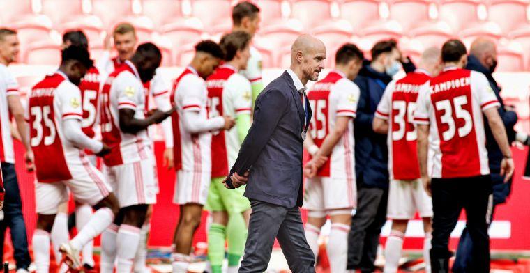 Ten Hag spreekt van tussenjaar bij Ajax: 'Dat overkomt een ervaren speler niet'