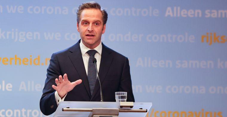 Minister De Jonge niet blij: 'Ajax had meer verantwoordelijkheid moeten nemen'