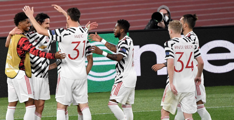 Roma redt de eer in vermakelijke returnwedstrijd, maar Man United naar de finale