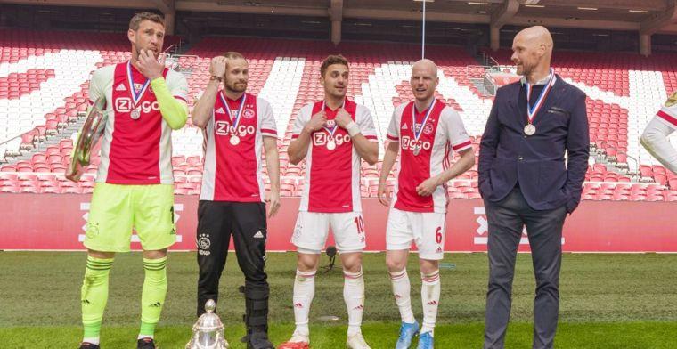 Lof voor bezeten Ten Hag: 'Tactisch topniveau, heel blij dat hij bij Ajax blijft'