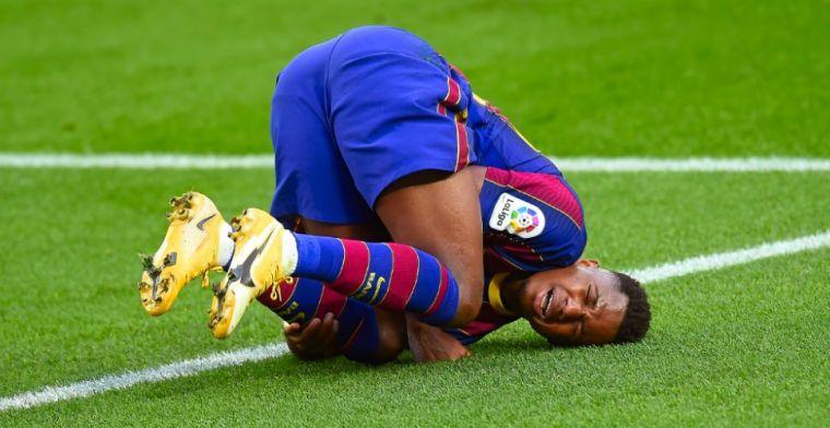 Koeman leeft mee met geblesseerde Barça-aanvaller: 'Arme jongen, het duurt lang'