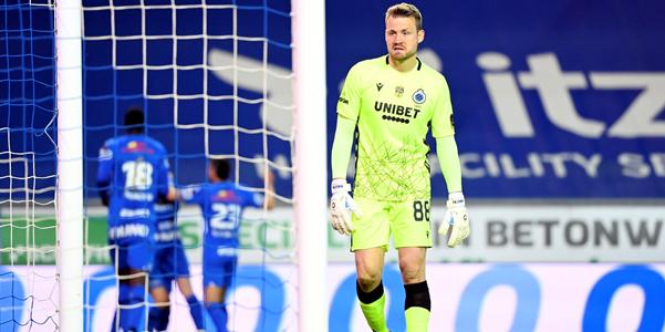"""Mignolet (Club Brugge) baalt: """"We wisten dat die voorsprong zo weg kan zijn"""