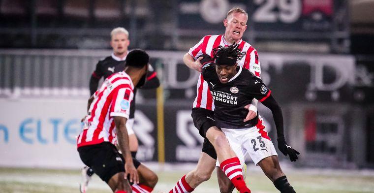 Sparta praat met Beugelsdijk over tackle tegen PSV: 'Tom zegt dat het onzin is'