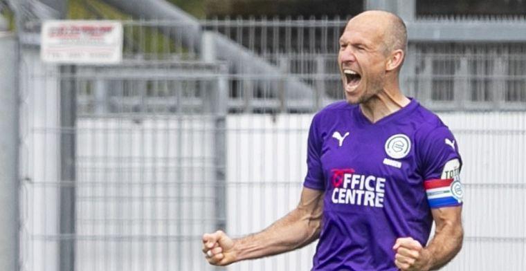 Vraagteken achter naam Robben voor duel met AZ na hoofdrol tegen FC Emmen