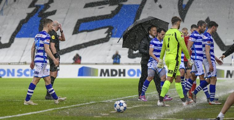 KNVB komt met reactie: 'Vervelend, maar we gaan niet zes wedstrijden stilleggen'