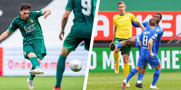 Vitesse ondanks averij Europa in, Feyenoord knoeit en gaat de play-offs in
