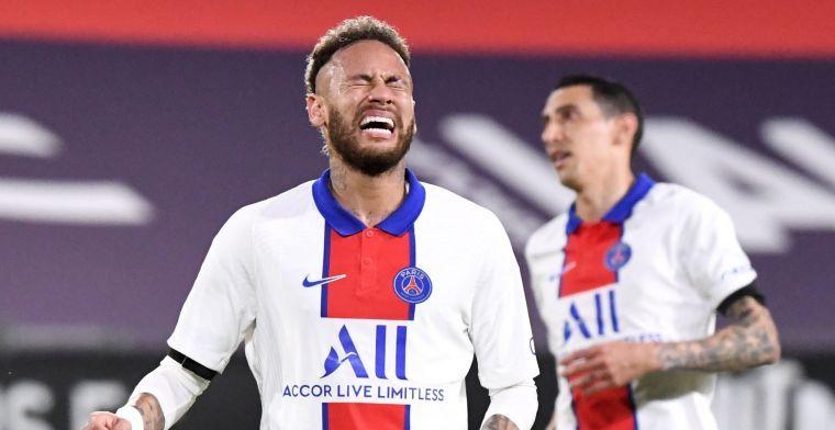 Neymar woedend na schorsing: 'Dit verdient echt een applaus, wat een puinhoop'