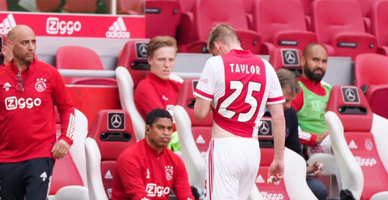 Ajax akkoord met schikkingsvoorstel: Taylor mist start van nieuw seizoen