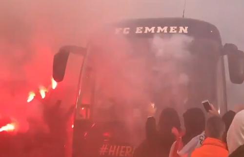 In voor en tegenspoed: supporters van Emmen steken spelers hart onder de riem