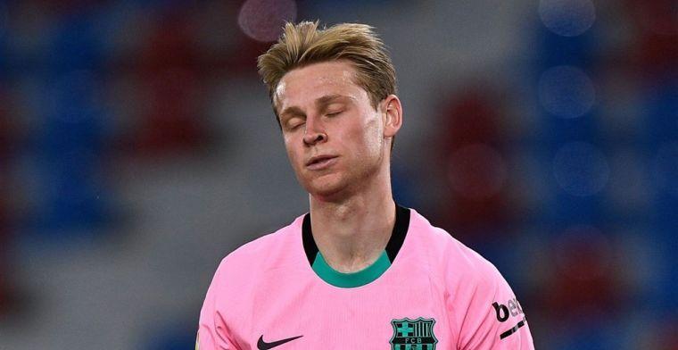 Vrees voor 'frustratie' bij Frenkie de Jong: 'Barça-leider wil net als Messi meer'
