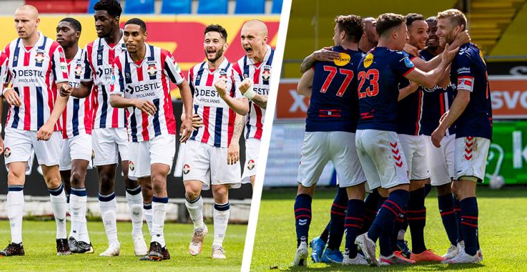 Willem ll speelt zich veilig tegen Fortuna, FC Emmen moet de play-offs in