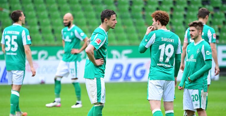 Werder Bremen degradeert voor het eerst sinds 1980 uit de Bundesliga