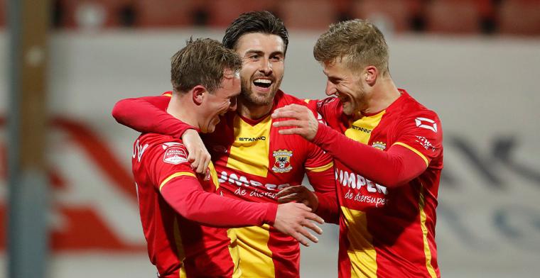 Go Ahead Eagles neemt opnieuw afscheid van spits: 'Promotie absolute bekroning'