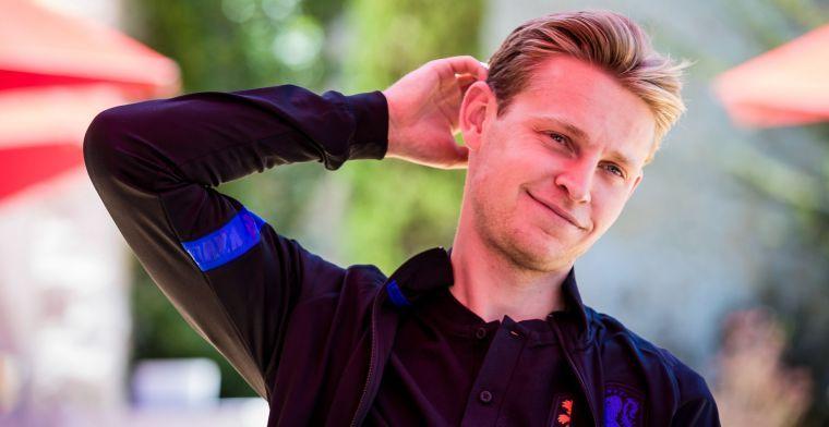 Koeman legde De Jong druk op: 'In die rol mijn beste wedstrijden gespeeld'