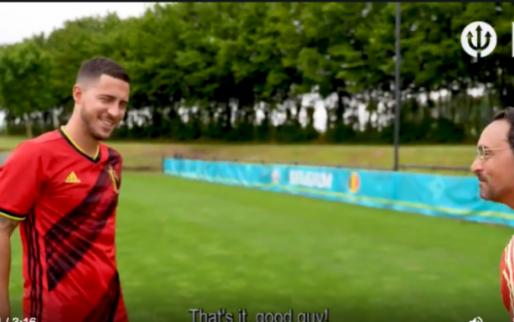 Hazard verklapt hoe hij goals zal vieren op het EK: 'Met 'Het brein''