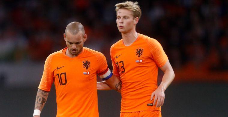 Sneijder wijst 'natuurlijke Oranje-opvolger' aan: 'Ben echt gecharmeerd van hem'