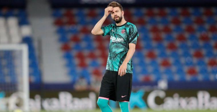 Piqué legt zijn lot in handen van Barça-trainer: 'Dat is de dag dat ik stop'